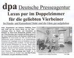 Zeitungsartikel der Deutschen Presseagentur