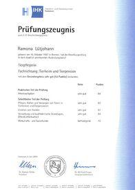 Ramona Lütjohann - Prüfungszeugnis