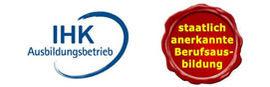 Button IHK Ausbildungsbetrieb sowie staatlich anerkannte Berufsausbildung zum Tierpfleger