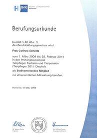 Frau Schütte - Prüfungsausschuss 2009-2014