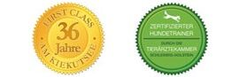 Button Hundetrainer gemäß § 11 sowie seit 1983 am Kiekutsee