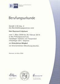 Raymond Lütjohann - Prüfungsausschuss 2009-2014