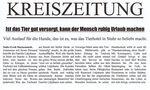Zeitungsartikel der Kreiszeitung