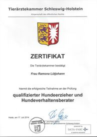 Ramona Lütjohann - Hundetrainerzertifizierung