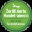 Grünes Logo für Zertifizierte Hundetrainerin durch die Tierärztekammer-