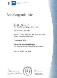 Frau Schütte - Prüfungsausschuss 2007-2009